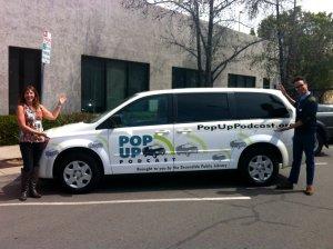 Pop Up Podcast van