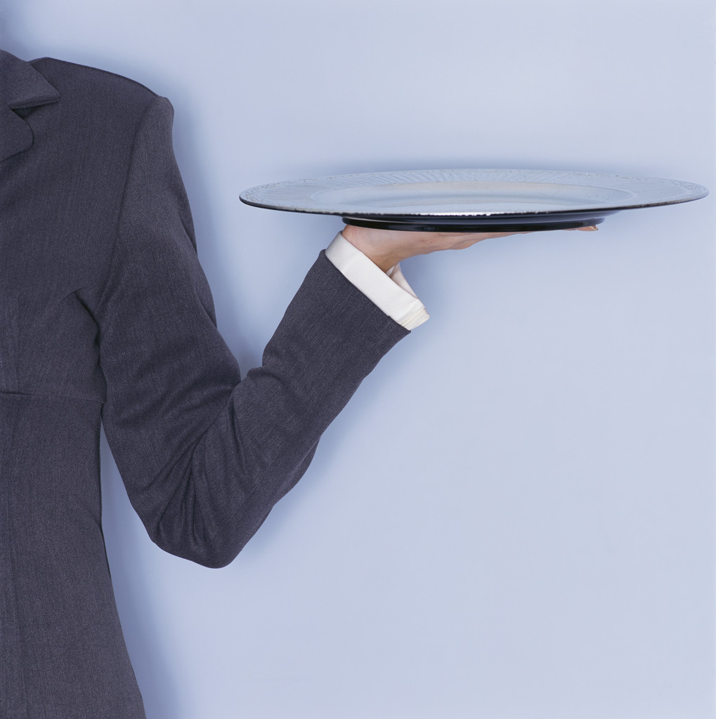 Library Lost  Waiters Serving Tray