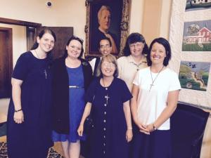 Photo of the author with her sisters from the convent