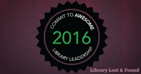 "badge with text ""commit to awesome library leadership 2016"""