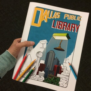 cover of the dallas public library coloring book