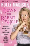 Very pink book cover for Down the Rabbit Hole