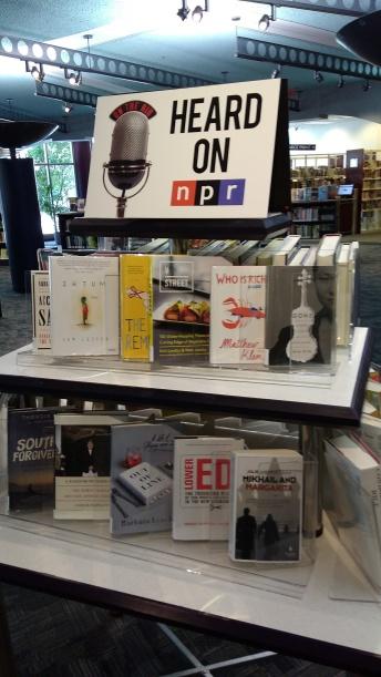 NPR book display